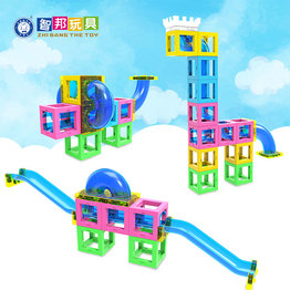 Hot sell New design learning&educational toy magnetic blocks with running ball for kids