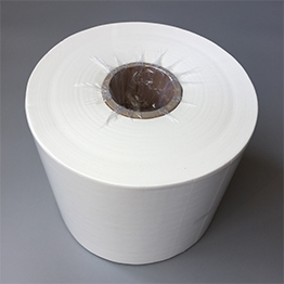 White Nonwoven Cellulose Cleanroom Wiper Roll