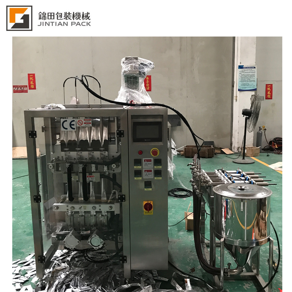 Small bag multilane liquid packing machine