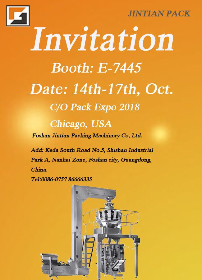 Invitation,Foshan Jintian Packing Machinery Co., Ltd.