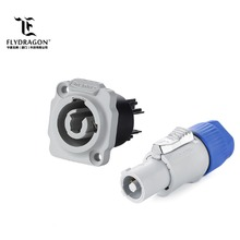 Grey Power Output Male Female Connector, Panel Mount Connector for Stage Light