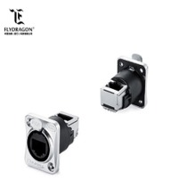 IP44 Straight Dual Ports rj45 waterproof connector