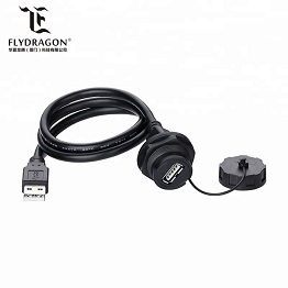 1M Cable And Type B Plug PBT Engineering Plastic Material Bayonet Female 2.0 USB Connector
