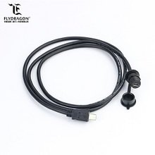 Micro USB IP67 waterproof male to female converter data connector