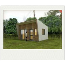 24m2 tiny prefabricated house with  PU sandwich panel