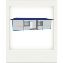 Prefabricated composite panel prefab houses kits with flat roof