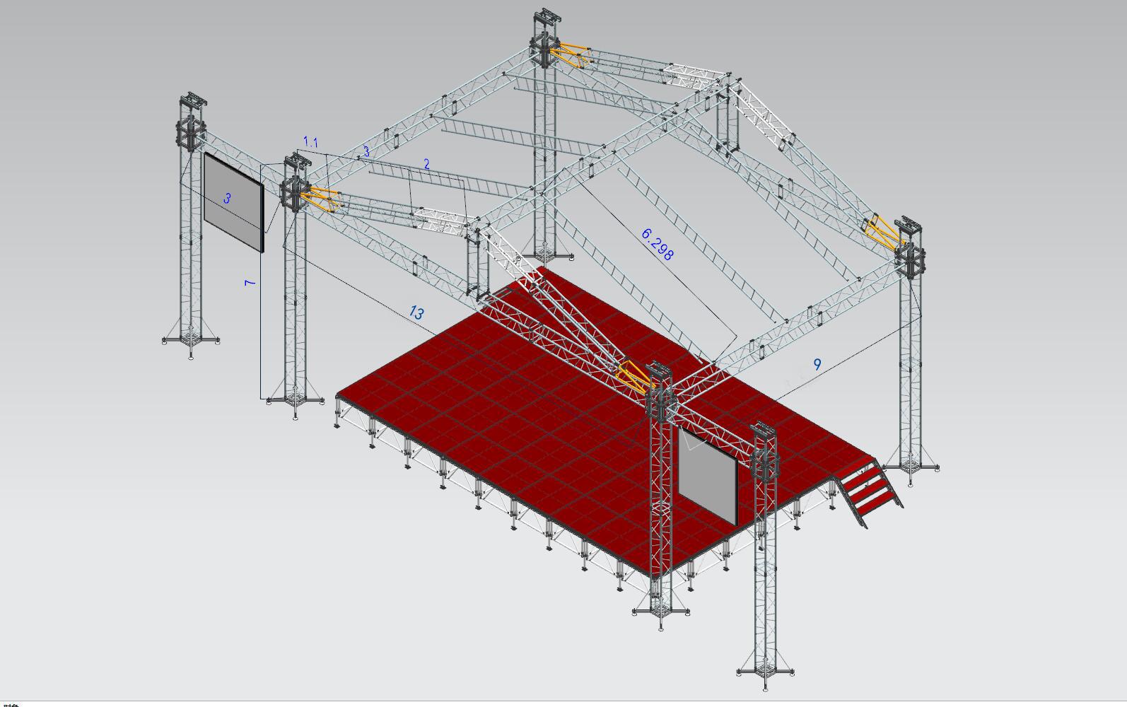 Product - TUV certificated manufacturer aluminum roof truss