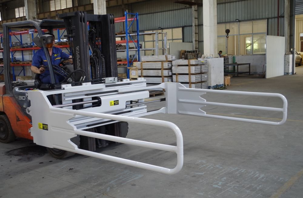 Bale clamp foam rubber clamp for forklift truck