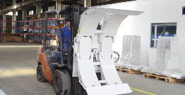 Production process of forklift attachments