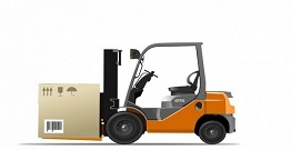 What conditions affect the efficiency of the forklift?