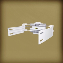 Rotating forklift bale clamps