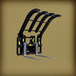 forklift attachment waste material handler