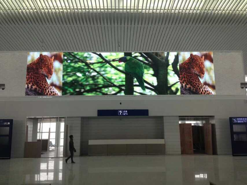 P4MM INDOOR LED DISPLAY  IN AIRPORT