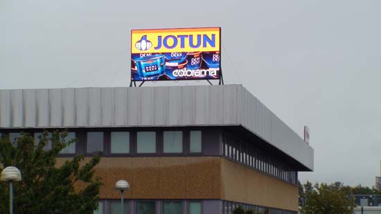 P16MM OUTDOOR ROOF INSTALLATION LED DISPLAY