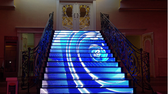 INDOOR LED STAIR DISPLAY IN KOSOVO