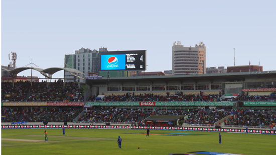P10MM OUTDOOR LED DISPLAY FOR CRICKET WORLD-CHAMPION IN BANGLADESH