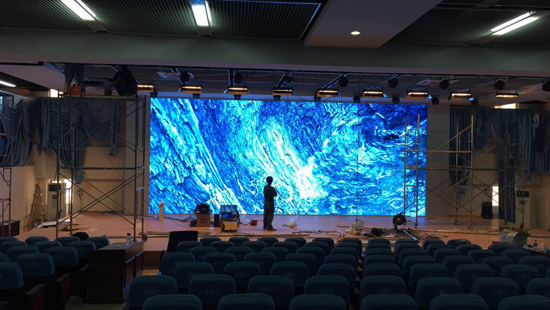 P3MM INDOOR LED DISPLAY ON STAGE BACKGROUND