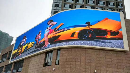 P10MM OUTER CURVED ADVERTISING LED DISPLAY