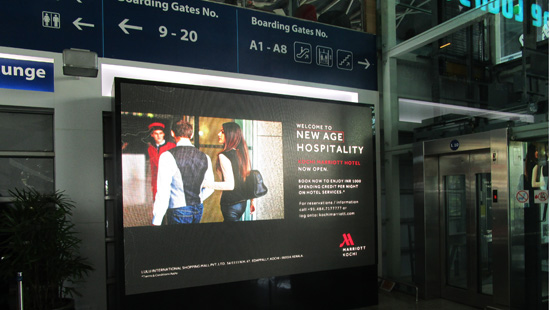 PH4.8MM INDOOR LED DISPLAY IN MUMBAI AIRPORT,INDIA