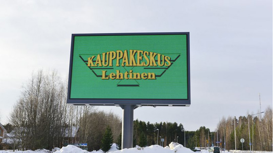 P16MM OUTDOOR UNIPOLE INSTALLATION LED ADVERTISING BILLBOARD