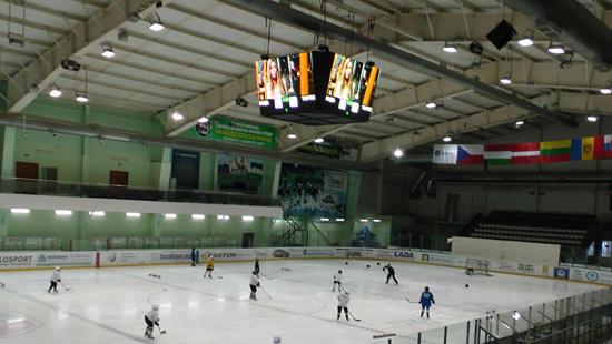 P10MM OUTDOOR LED DISPLAY INSTALLED IN ICE-HOCKEY STADIUM IN RUSSIA