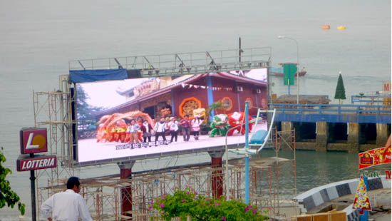 P16MM OUTDOOR STANDING POLES INSTALLATION LED DISPLAY