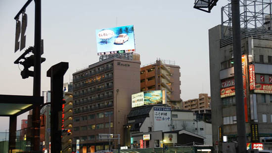 P16MM OUTDOOR ROOF INSTALLATION LED ADVERTISING DISPLAY