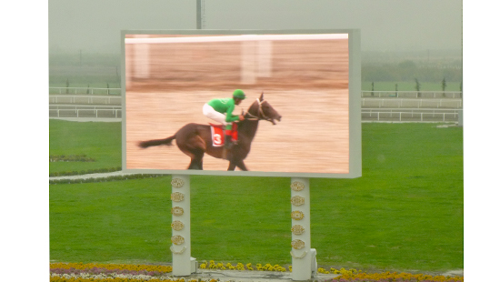 P10MM DIP OUTDOOR LED DISPLAY INSTALLED IN HORSE RACING COURT IN TURKMENISTAN