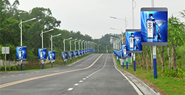 Why does the LED pole display occupy the outdoor advertising market?