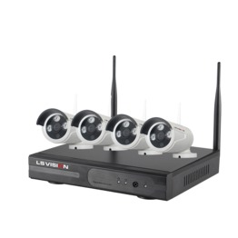 LS VISION H.264 4CH 1.3MP 960P IR Waterproof Night Vision 20M Bullet IP Cameras P2P Remote Wirelss NVR CCTV Kit