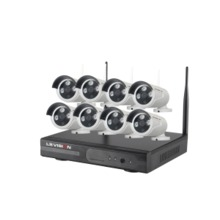LS VISION H.265 2MP 1080P 8CH Wireless Security NVR Camera System for Outdoor Indoor Video Surveillance