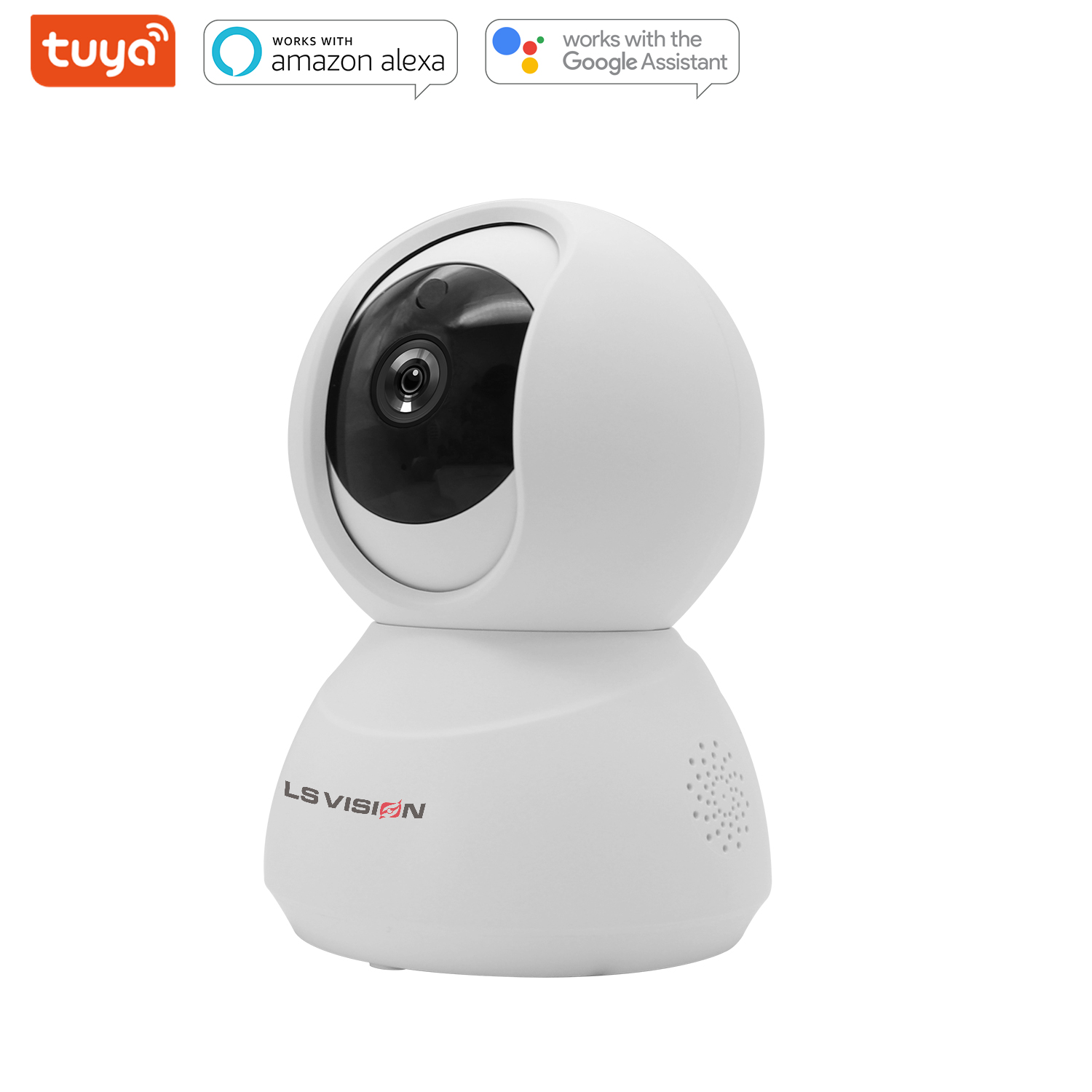 LS VISION Smart Tuya Two-way Voice WIFI Panoramic Auto