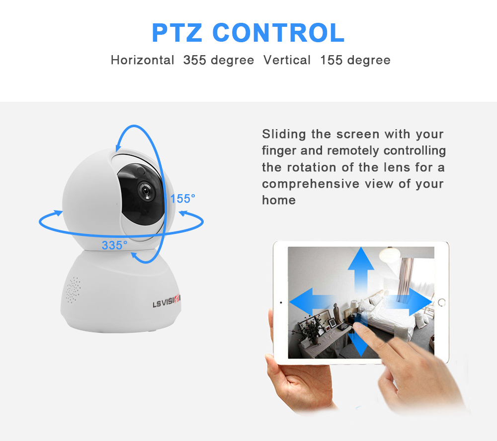 LS VISION Smart Tuya Two-way Voice WIFI Panoramic Auto Tracking PTZ