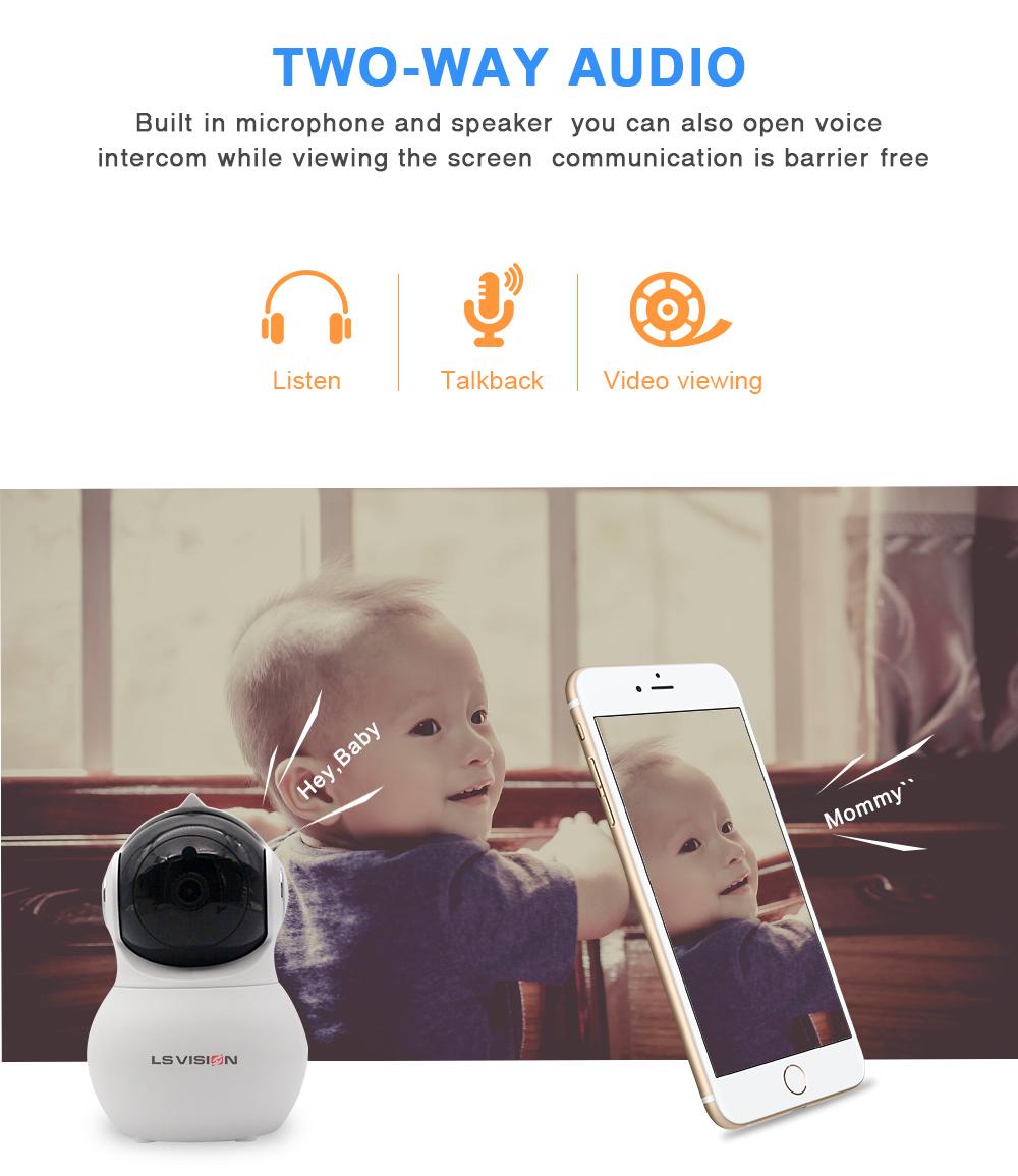 LS VISION Tuya Smart Home 1080P HD Auto Tracking Motion