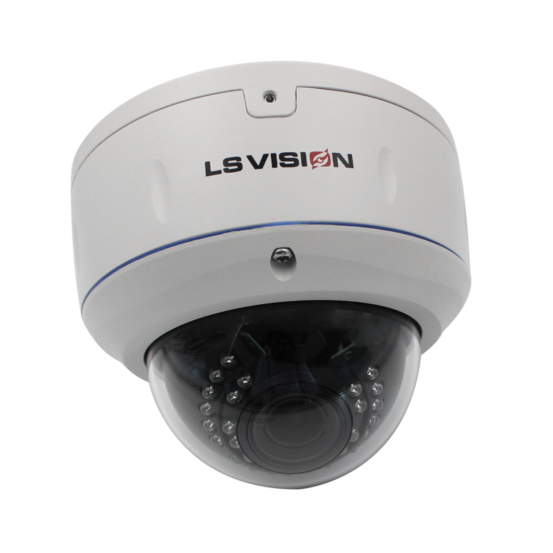 LS VISION Indoor 2MP 1080P POE Motorized Lens Dome IP Camera