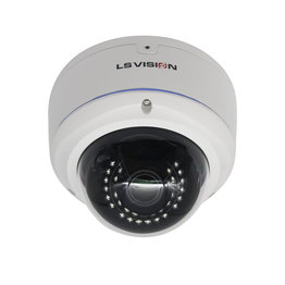 LS VISION H.265 4 Megapixel IR RS485 POE Dome Cctv IP Camera with Face Detection Audio TF Card Slot