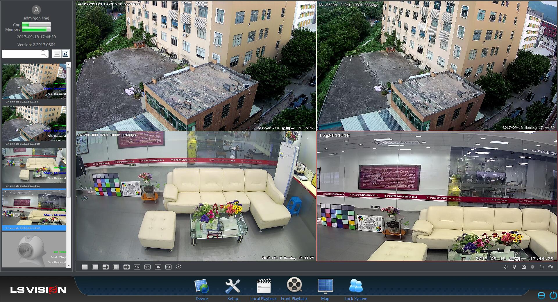 ls vision ip camera ie web page