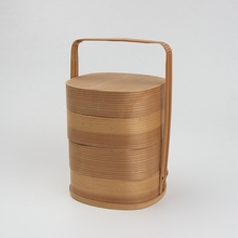 Factory is wholesale cheap woven round bamboo basket