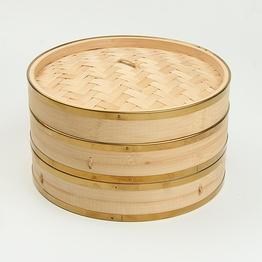 wholesale custom round bamboo food steamer for sale