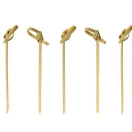 BambooMN  Bamboo Green Knotted Knot Skewers Picks