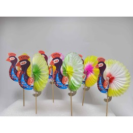 Peacock toothpick for party or cocktail decoration