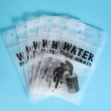 Custom Printed Stand Up Plastic Zipper Water Bags