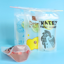 Customized Recycled Clear Plastic Stand Up Doypack Zipper Water Bags