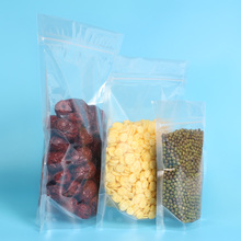 FDA Approved Clear Plastic Ziplock Stand Up Pouch Bag For Food Package