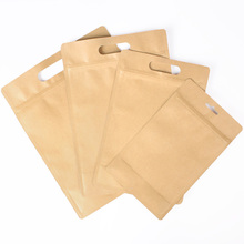 Moistureproof Coffee Paper Self Seal Bag Brown Kraft Paper Ziplock Bags
