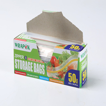 Household Resealable Food Storage Bag LDPE Food Grade Zip Plock Bags