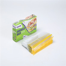 Clear Reusable Printed Ziplock Bag Waterproof Plastic Sandwich Bag With Zipper