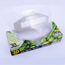 Kitchen Use Plastic Self Seal Pcaking Bag Food Grade Zipper Plastic Bag