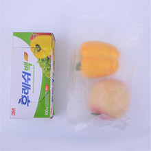 Durable Clear Plastic Freezer Bag Custom Reclosable Self Seal Zipper Bag