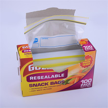 FDA Approved Insulated Sealed Plastic Food Storage Zipper Snack Bags